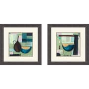 PTM Images Contemporary Bowl 2 Piece Framed Painting Print Set
