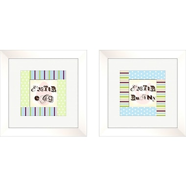 PTM Images 2 Piece Juvenile Polka Dots Framed Art Set