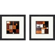 PTM Images Contemporary Forte 2 Piece Framed Painting Print Set