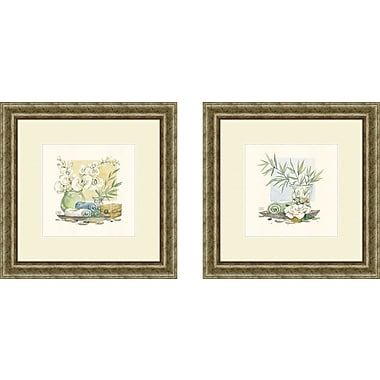 PTM Images Bath Relaxation Spa Delight 2 Piece Framed Painting Print Set