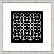 Melissa Van Hise Geometric 4 Framed Graphic Art; Black