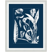 Melissa Van Hise Flora III Framed Graphic Art; Gray/Navy