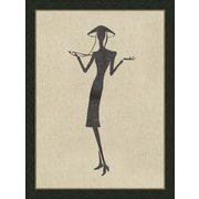 Melissa Van Hise Ladies on Natural Linen ll Framed Graphic Art