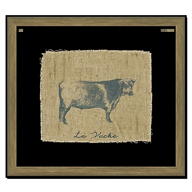 Melissa Van Hise Cow I Framed Graphic Art; Navy
