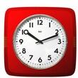 Bai Design Square Retro Wall Clock; Red