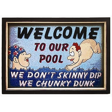 RAM Game Room Chunky Dunk Pool Framed Vintage Advertisement