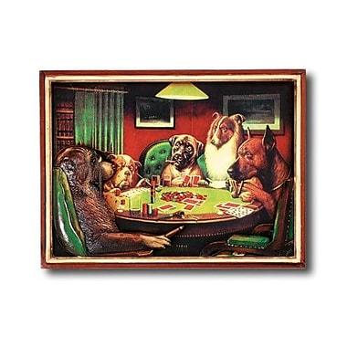 RAM Game Room Game Room Poker Dogs w/ Cigars Framed Vintage Advertisement