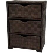 Oriental Furniture 3 Drawer Chest I; Mocha