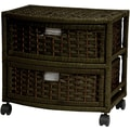 Oriental Furniture Occasional 2 Drawer Chest; Black