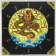 Oriental Furniture Dynasty Sea Dragon Wall Clock