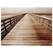 Oriental Furniture Ocean Walkway Photographic Print on Wrapped Canvas