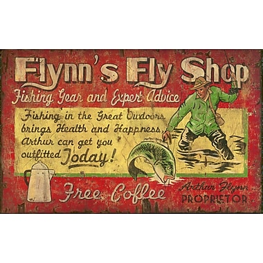 Vintage Signs Flynn's Fly Shop Vintage Advertisement Plaque