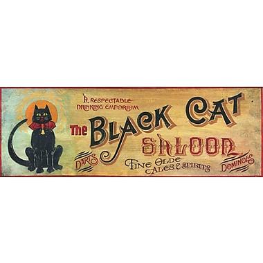 Vintage Signs Black Cat Vintage Advertisement Plaque