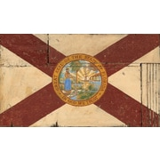 Vintage Signs Red Horse Florida Flag Vintage Advertisement Plaque