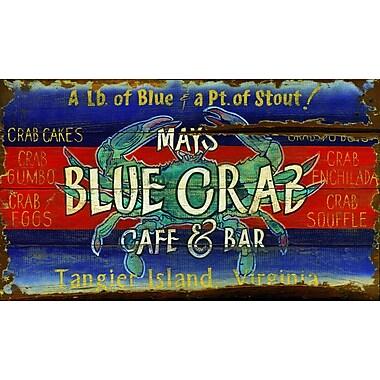 Vintage Signs Blue Crab Vintage Advertisement Plaque