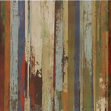North American Art 'Worn' by Tom Reeves Graphic Art on Wrapped Canvas