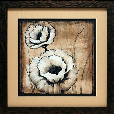 North American Art 'Neutral Poppies II' by Tim O'Toole Framed Painting Print