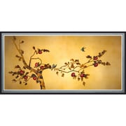 Oriental Furniture Birds on Plum Tree Framed Painting Print