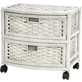 Oriental Furniture Occasional 2 Drawer Chest; White