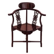Oriental Furniture Corner Arm Chair; Rosewood