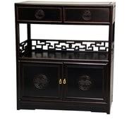 Oriental Furniture Long Life Display 2 Drawer Cabinet; Antique Black