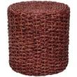 Oriental Furniture Rush Grass Knotwork Stool; Mahogany