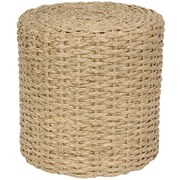 Oriental Furniture Rush Grass Knotwork Stool; Natural