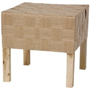 Oriental Furniture Woven Fiber Stool; Natural