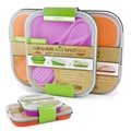 Smart Planet Collapsible Eco Lunch Box Set; Pink & Orange