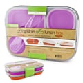 Smart Planet Collapsible Eco Lunch Box (Set of 2); Pink & Orange