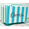 New Arrivals ''Once Upon a Time'' Stripe Hand Painted 10.5'' Book Storage