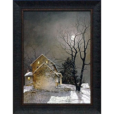 North American Art Working Late by Ray Hendershot Framed Painting Print