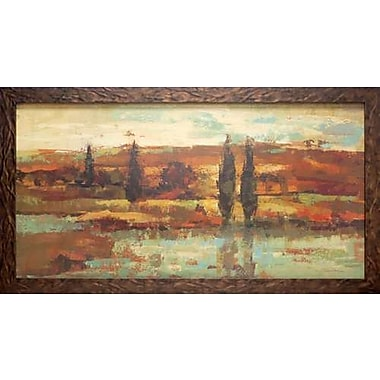 North American Art 'Hot Day by the River' by Silvia Vassileva Framed Painting Print