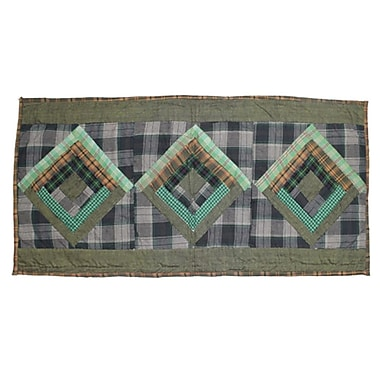 Patch Magic Green Log Cabin Table Runner; 36'' W x 16'' L