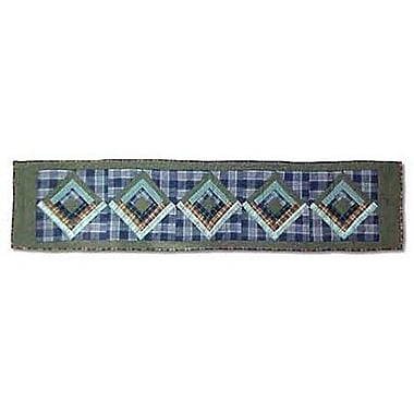 Patch Magic Green Log Cabin Table Runner; 72'' W x 16'' L