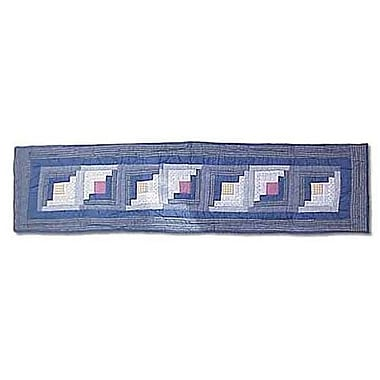 Patch Magic Sail Log Cabin Table Runner; 72'' W x 16'' L