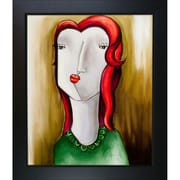 Tori Home Girl with Red Hair by Vantuan Nguyen Framed Original Painting