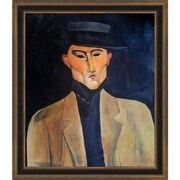Tori Home Portrait of a Man with Hat (Jose Pacheco) by Modigliani Framed Original Painting