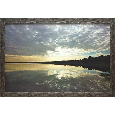 North American Art 'Reflections of the Sky' by Gail Peck Framed Painting Print