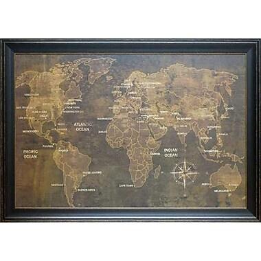 North American Art 'The World' by Luke Wilson Framed Graphic Art