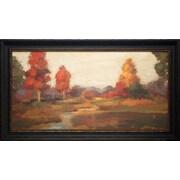 North American Art 'Fall Creek' by Silvia Vassileva Framed Painting Print
