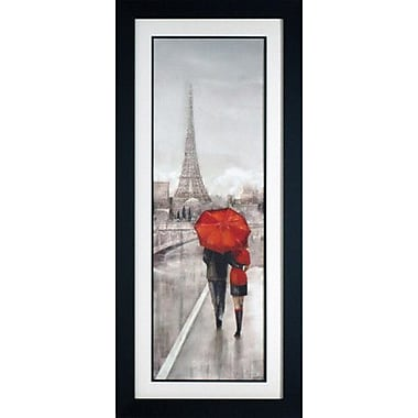 North American Art 'Paris Stroll' by Ruane Manning Framed Painting Print
