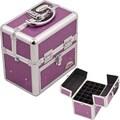 Sunrise Cases Aluminum Cosmetic Makeup Nail Case; Purple