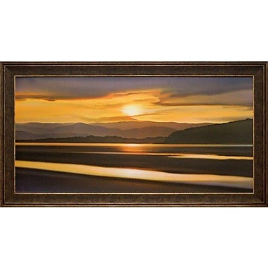 North American Art 'Last Light of Day' by Ken Messom Framed Painting Print