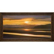 North American Art 'Last Light of Day' by Ken Messom Framed Graphic Art