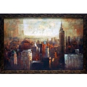 North American Art 'Towers of Bronze and Gold' by Paul Bell Framed Painting Print