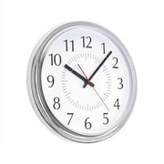 Peter Pepper 14'' Wall Clock; Polished Chrome