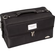 Sunrise Cases Soft-Sided 2-Tiered Accordion Professional Makeup Case; Black