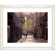 Studio Works Modern ''Old Town'' by Mia Singer Framed Graphic Art; White