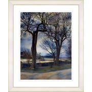 Studio Works Modern ''Country Lane'' by Mia Singer Framed Fine Art Giclee Photographic Print; White